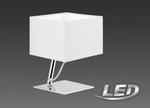 LED 6 Watt Tischleuchte Tischlampe Stoff Lampe Leuchte Chrom Weiß  95766 Eglo 001
