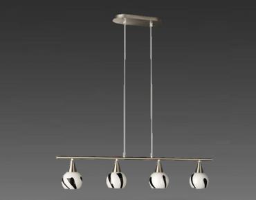 Pendel Deckenleuchte Lampe Leuchte nickel Massive Glas  51157/30/10