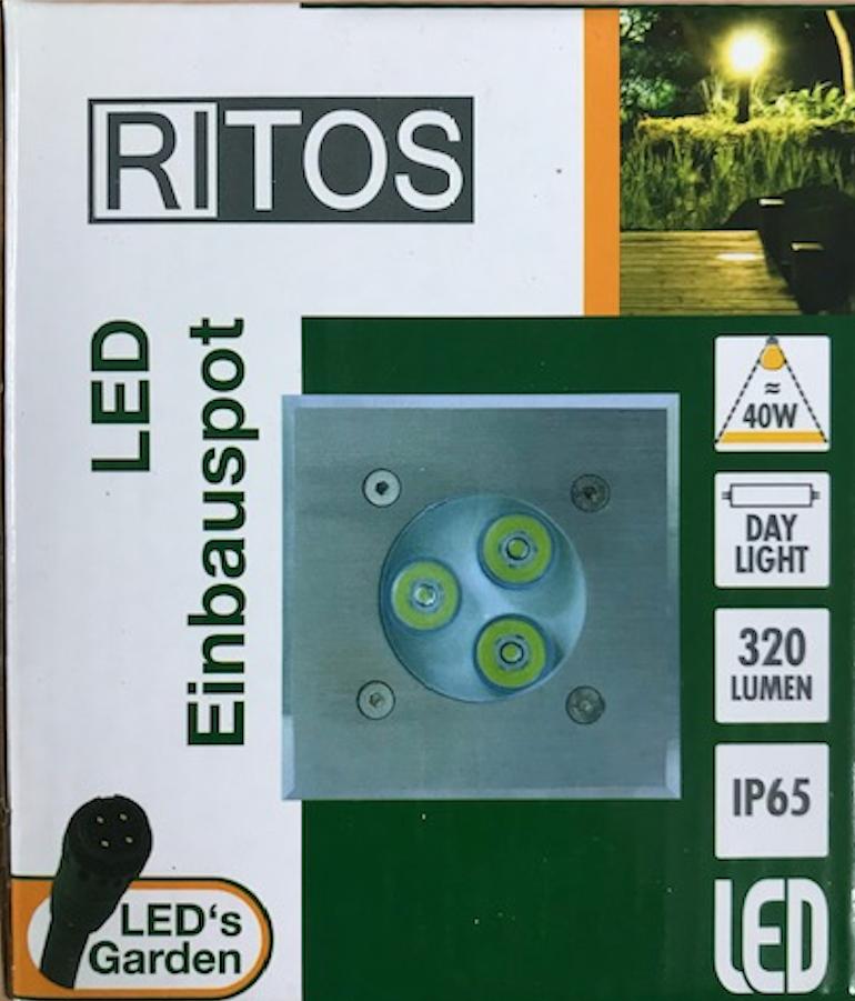RITOS LEDs Garden Einbauspot 5er Set Einbauleuchte LED Lampe Leuchte 0087440012