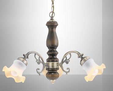 Krone 3 Pendelleuchte Pendel Lampe Hängelampe Holz  7073