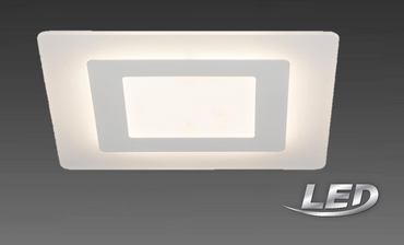 AEG LED Deckenlampe Deckenleuchte Acryl 33 cm Aluminium / Kunststoff Weiß AEG181117
