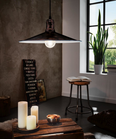 Eglo Kupfer Leuchte Pendelleuchte Pendel Hängelampe Vintage Lampe  49454