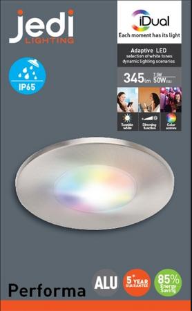 JEDI Lighting LED Einbauleuchte 1 IP65 Einbaulampe Weiß  Lampe Leuchte JE1295808