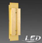 Wofi LED Wandlampe Wandleuchte Lampe Leuchte 2-flammig Golden Farbig 437902157000 001