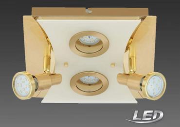 Briloner LED Deckenleuchte Deckenlampe  Spotbalken 4 Flammig Lampe Leuchte 3487-047