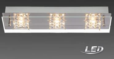Brilliant LED Deckenleuchte Glas Deckenlampe Spot Lampe Leuchte G94266/15