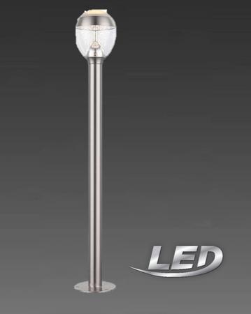 Globo LED Aussenleuchte Aussenlampe  Lampe Leuchte Standlampe Edelstahl 34252