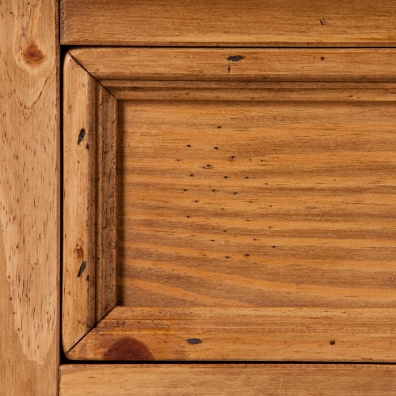 Sideboard 4-trg. Kommode 1502 Mexican Kiefer massiv antik gewachst B200 H88 T51 – Bild 3