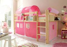 Hochbett  Malte  Kiefer Natur  rosa-pink