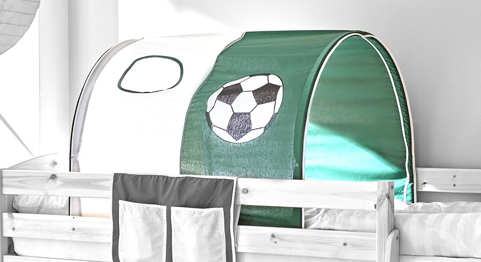 Tunnel für Hoch- und Etagenbetten  dunkelgrün-weiß (Goal)