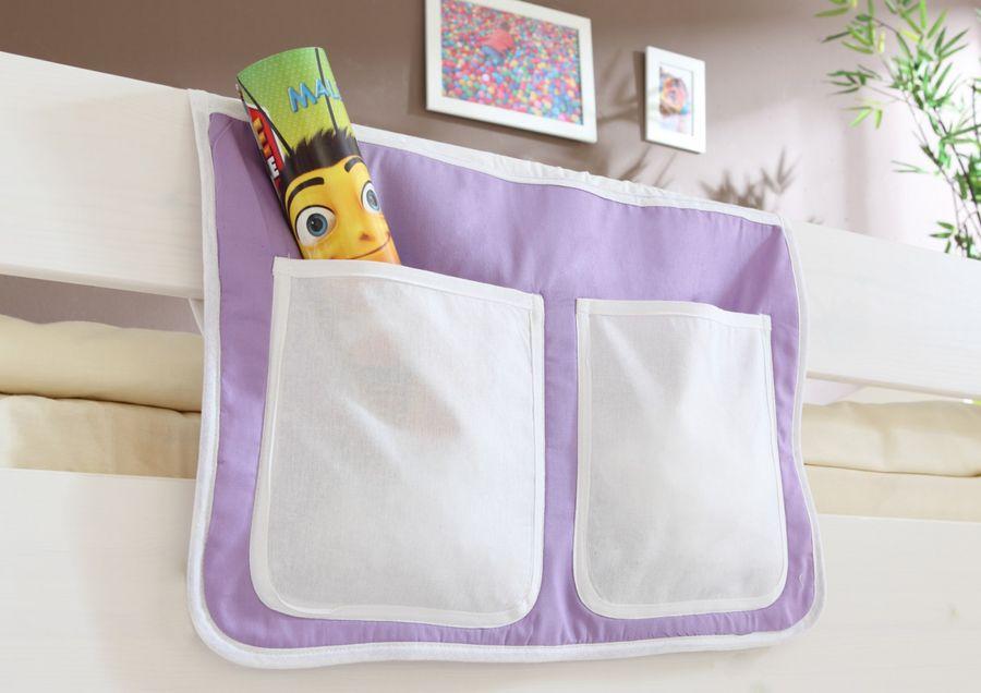 """Bett-Tasche für Hoch- und Etagenbetten """"lila-beige"""""""