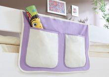 Bett-Tasche für Hoch- und Etagenbetten  lila-weiß