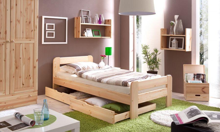 Einzelbett  Bert  90x200 Natur