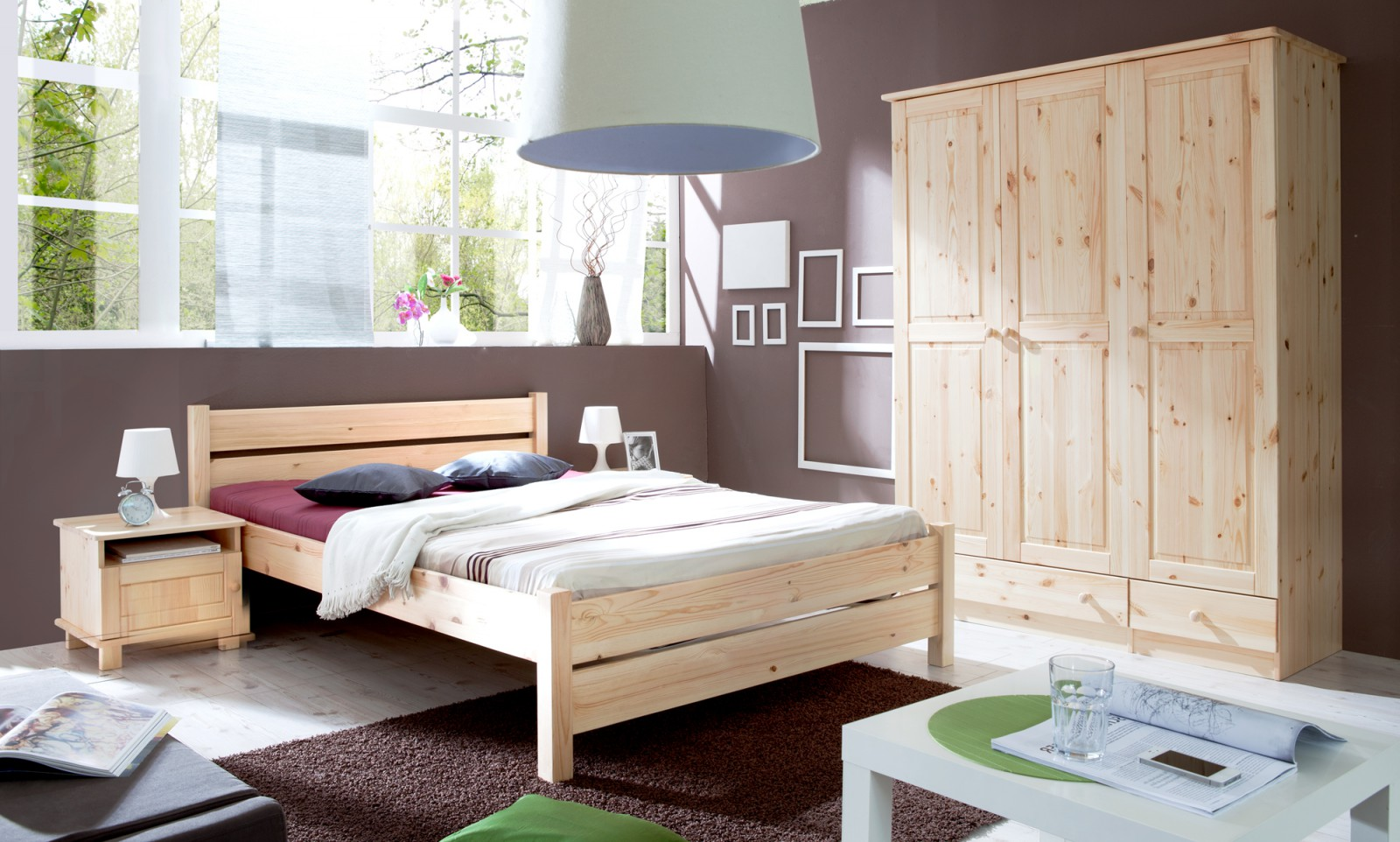 doppelbett bora 140x200 natur wohnwelt schlafzimmer betten doppelbetten. Black Bedroom Furniture Sets. Home Design Ideas