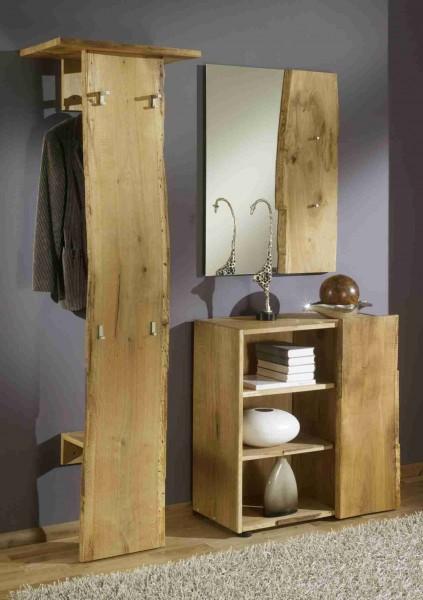 Garderobenschrank Kommode breit Schrank 1Tür Woodline Eiche massiv B83 H83 T38 – Bild 4