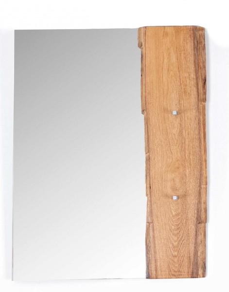 Garderobenspiegel Spiegel kurz Flur Woodline Eiche massiv geölt Unikat B70 H90 T6