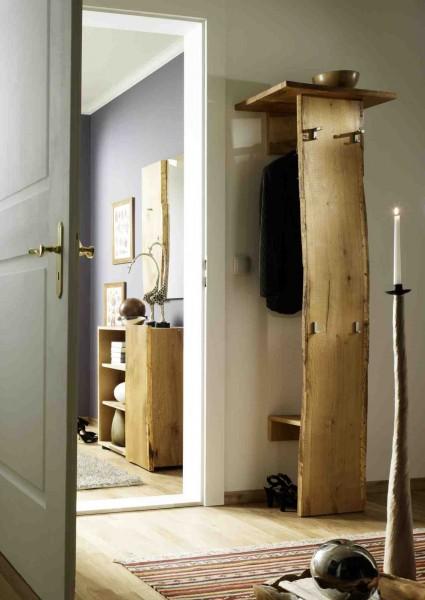 garderobe multigarderobe flurmoebel woodline eiche massiv ge lt b60 h190 t32 wohnwelt diele. Black Bedroom Furniture Sets. Home Design Ideas