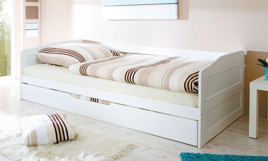 Sofabett mit Auszug  Melinda  weiß – Bild 2