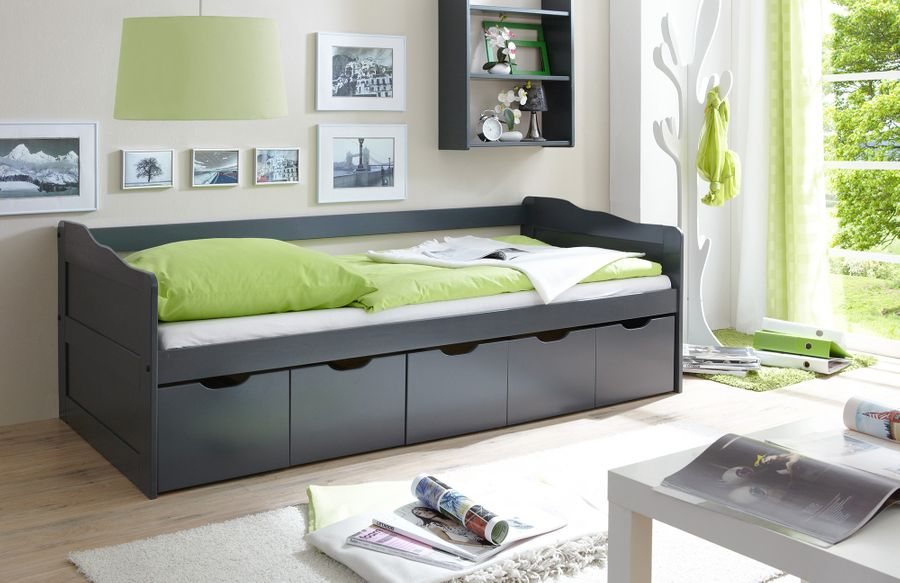 Sofabett mit Bettauszug  Marianne  grau – Bild 1