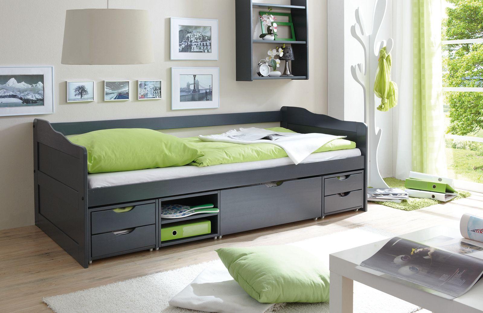 Sofabett mit Schubkästen  Marlies  grau