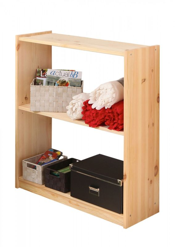 Standregal Bücherregal Kiefer massiv Natur 92cm hoch
