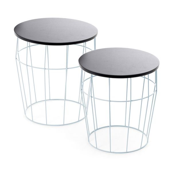 Side Table Set Coco blue / black – Bild 1