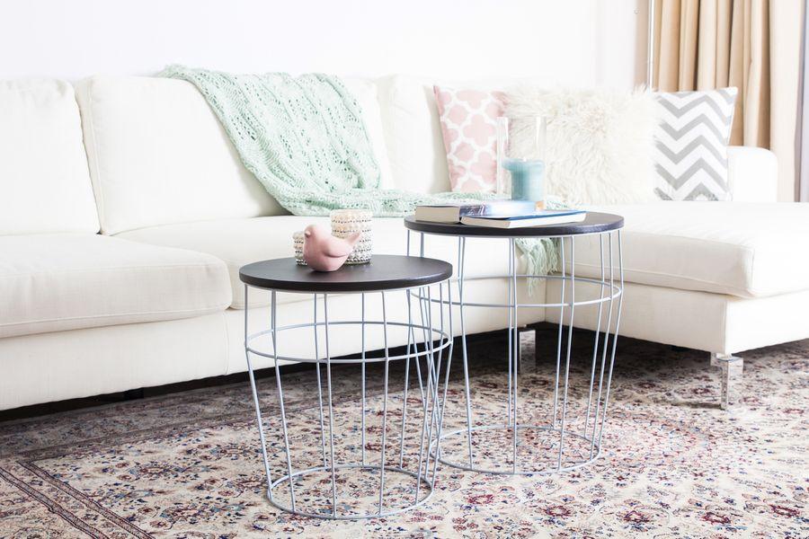 Side Table Set Coco blue / black – Bild 2