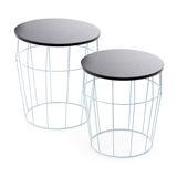 Side Table Set Coco blue / black