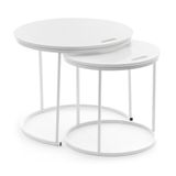 Side Table Set George white