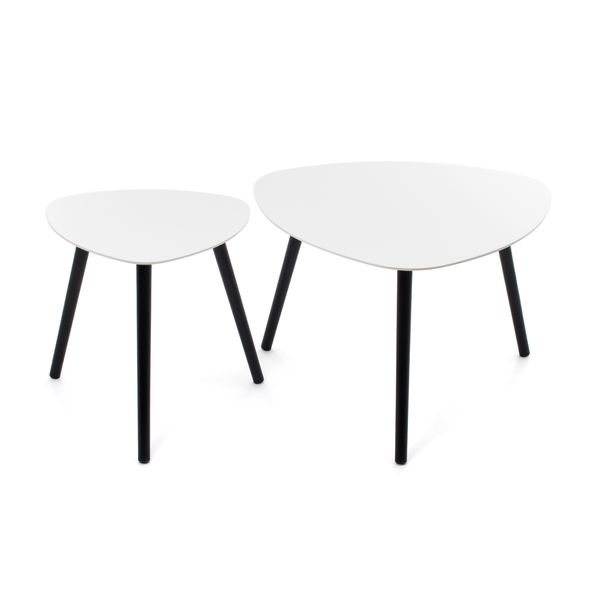 Coffee table Set Courtney white – Bild 1