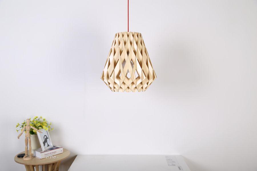 Hängelampe Alasco Holz – Bild 3