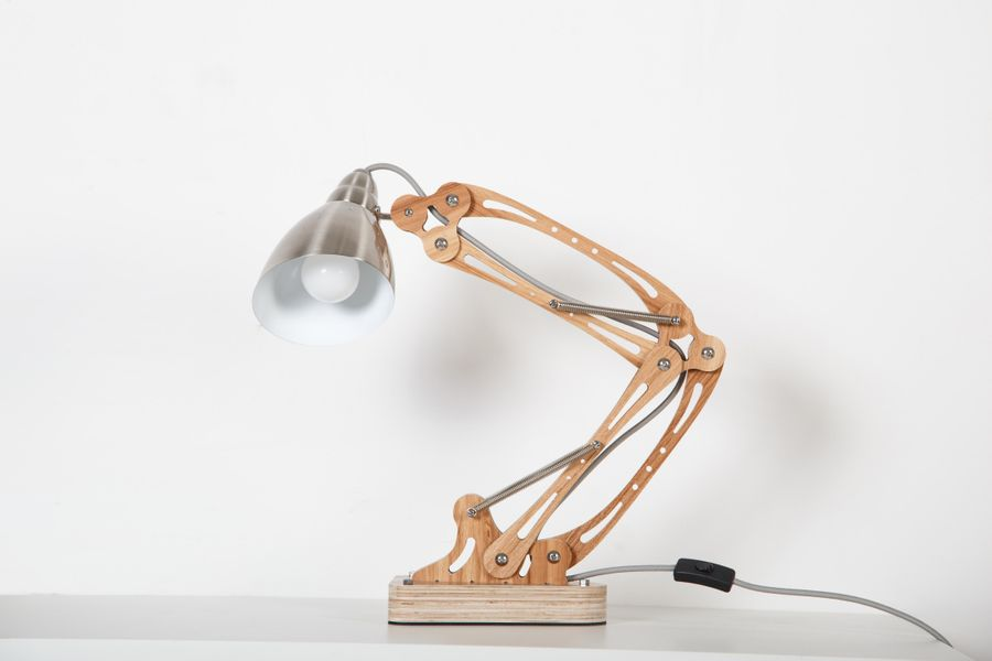 Tischlampe Merop Esche – Bild 1