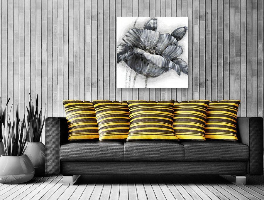 Aluminium Wandbild Blüte 80cm x 80cm – Bild 2