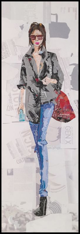 Papier Wandbild Runway I (3-teilig) 96cm x 92cm – Bild 1