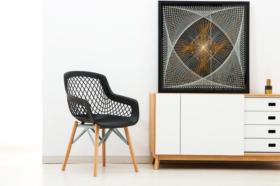 Faden-Wandbild Netzwerk 90cm x 90cm – Bild 2