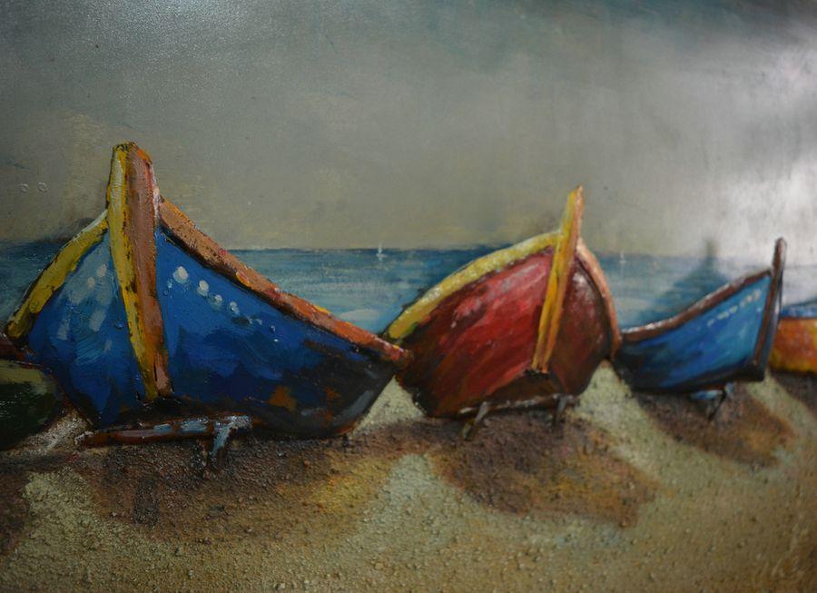 Metall Wandbild Boote 140cm x 70cm – Bild 2