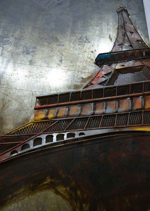 Metall Wandbild Eifelturm I 80cm x 120cm – Bild 2
