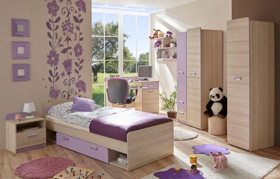 """Kinderzimmer Jugendzimmer """"Lori"""" 6-teilig violett"""