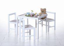 Kinder Tischgruppe 4-teilig Sonoma-weiß