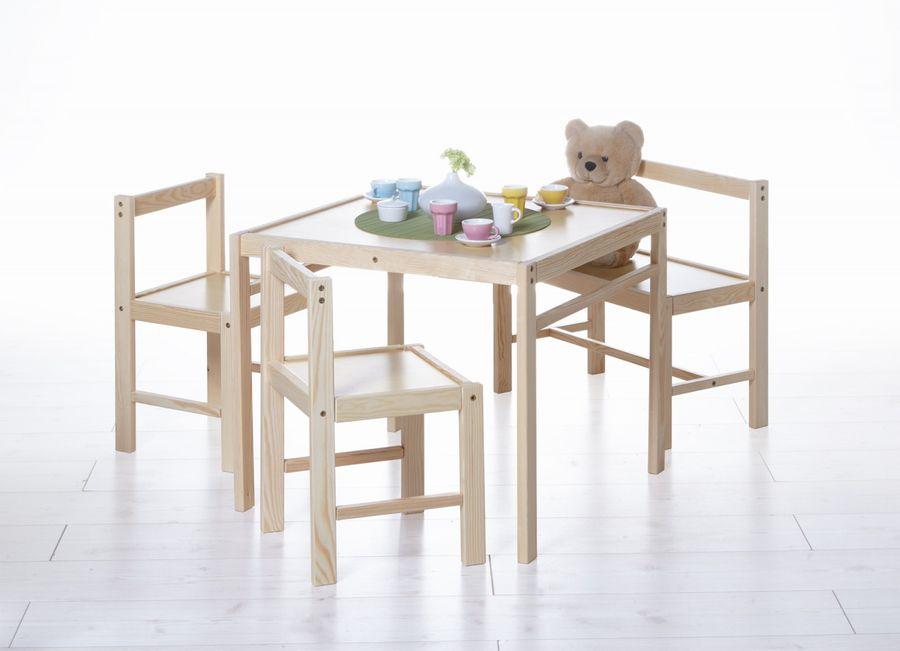 Kinder Tischgruppe 4-teilig Natur