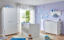 """Babyzimmer """"Mia"""" 5-tlg. weiß 2-trg."""