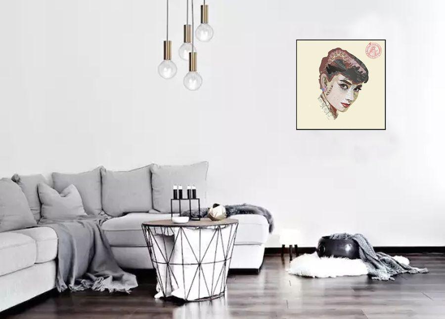 Papier Wandbild Actress 52 cm x 52 cm Wanddekoration – Bild 2