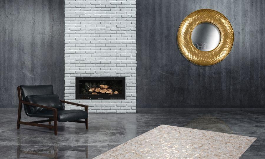 Metall Wandspiegel Cleo 290 Gold – Bild 2