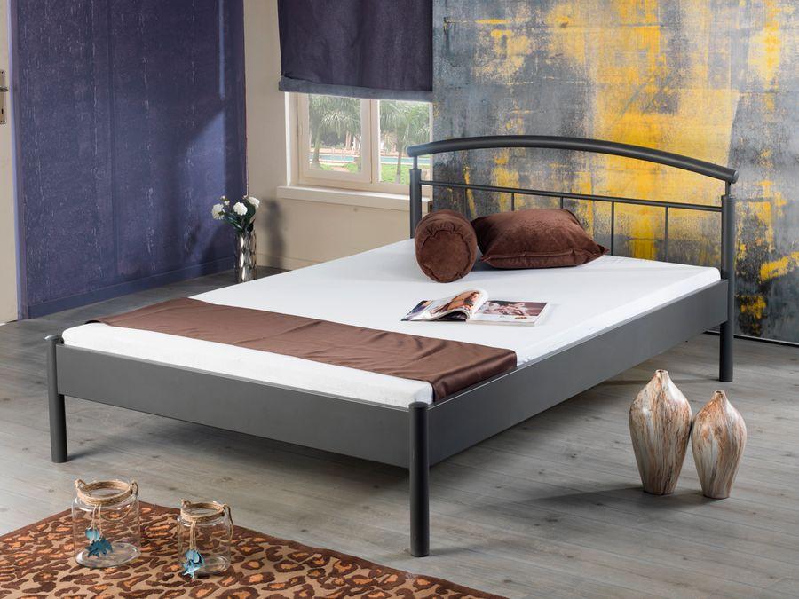 Modernes Metallbett NINA 1007 - 160 x 200 - weiß – Bild 1