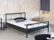 Modernes Metallbett RUBY 1008 - 140 x 200 - dunkelgrau