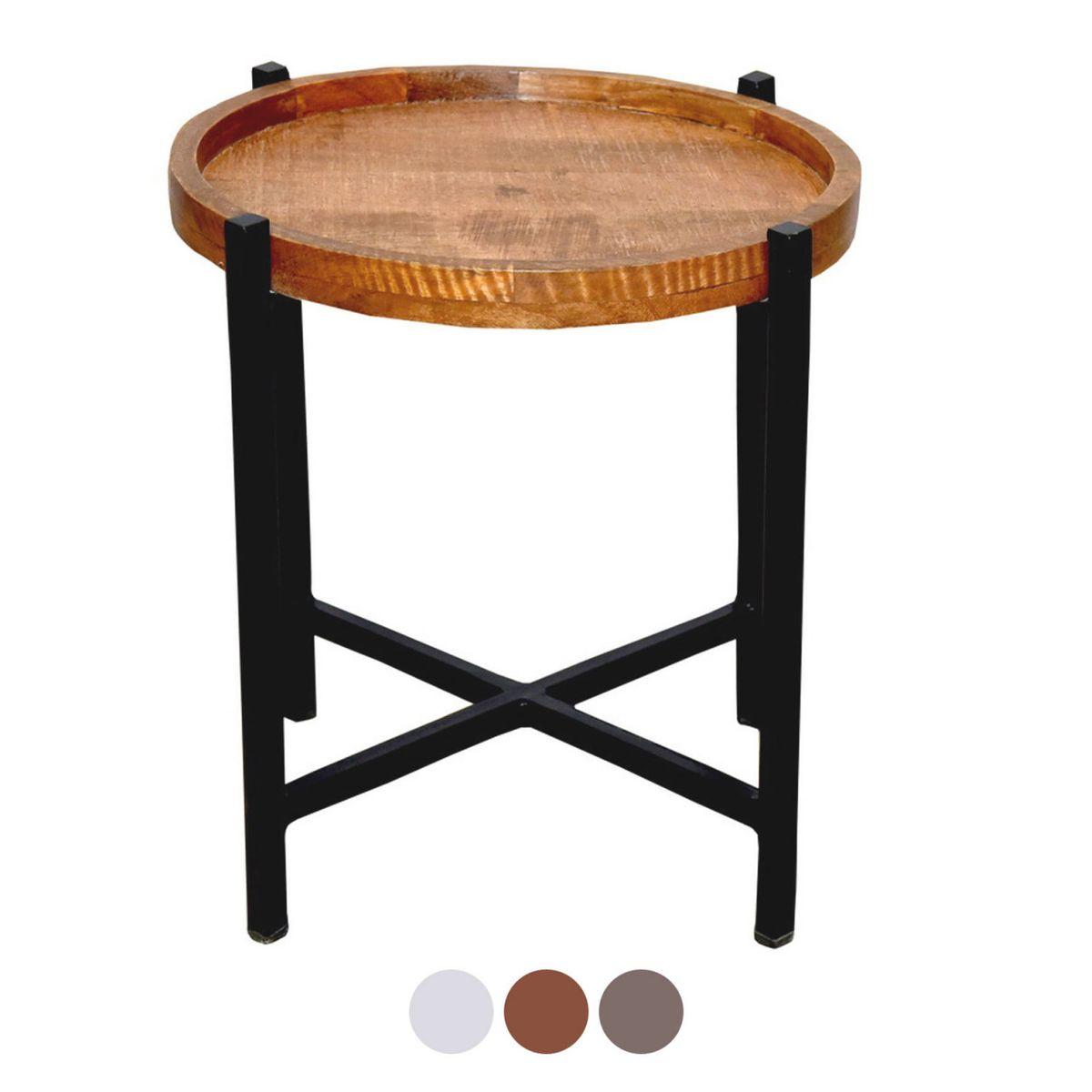 Tisch Rund Metallgestell.Voglrieder Beistelltisch Wohnzimmer Tisch Rund Omaha Metall Gestell Altsilber Oder Schwarz Braun Bassano