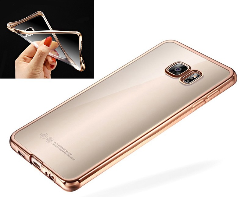 Galaxy S7 Edge Flexible Silikon Natel Cover Gold