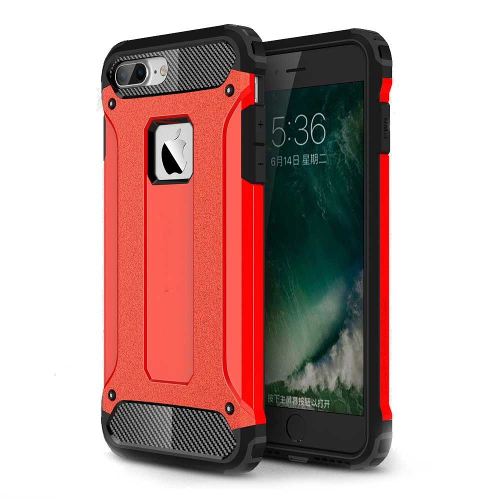iPhone 7 Plus Hybrid Natelcover Hülle¨Rot