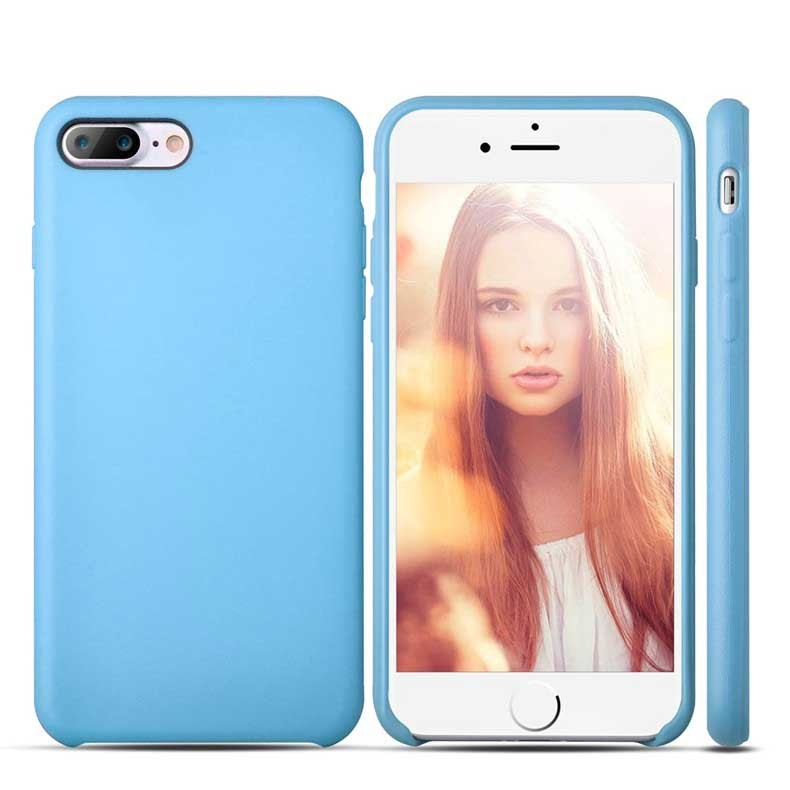 iPhone 7 Plus Case Anti Fingerabdruck Hellblau