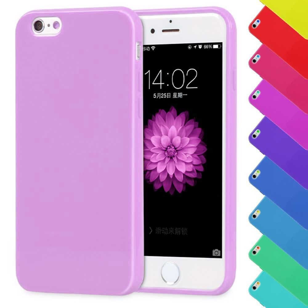 iPhone 7 Plus Candy Crush Silikon Gummihülle Cover Violet